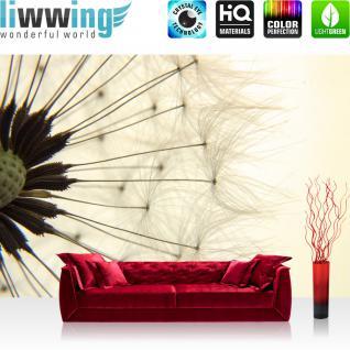 liwwing Vlies Fototapete 200x140 cm PREMIUM PLUS Wand Foto Tapete Wand Bild Vliestapete - Natur Pusteblume Löwenzahn - no. 204