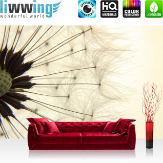 liwwing Vlies Fototapete 300x210 cm PREMIUM PLUS Wand Foto Tapete Wand Bild Vliestapete - Natur Pusteblume Löwenzahn - no. 204