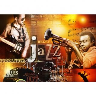 Fototapete Sonstiges Tapete Jazz Rock n Roll Musik Noten Blues orange   no. 2330