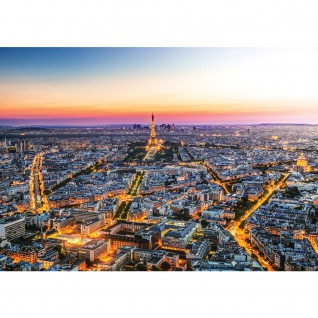 Fototapete Frankreich Tapete Skyline Paris Sonnenuntergang Eiffelturm orange | no. 1225