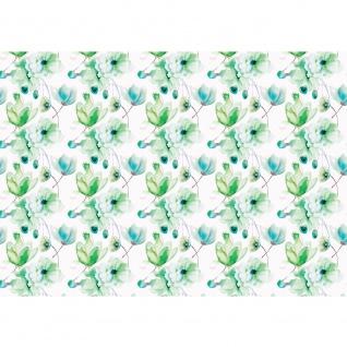 Fototapete Kunst Tapete Aquarell Kunst Blumen Malerei blau | no. 1766 - Vorschau 1