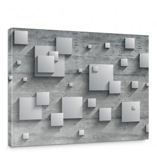 Leinwandbild Holzwand Rechtecke Platten Kunst Design 3D Optik | no. 885