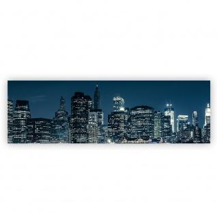 Leinwandbild New York Blue Night Skyline New York City USA Amerika Big Apple | no. 22 - Vorschau 2