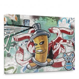 Leinwandbild Kinder Graffiti Dose Sprayer bunt | no. 339