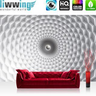 liwwing Vlies Fototapete 416x254cm PREMIUM PLUS Wand Foto Tapete Wand Bild Vliestapete - 3D Tapete Mosaik Muster 3D weiß - no. 3134
