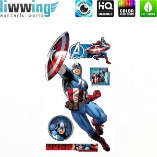 Wandsticker Marvel Avengers - No. 4646 Wandtattoo Sticker Kinderzimmer Hulk Iron Man Thor Captain America