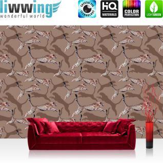 liwwing Vlies Fototapete 104x50.5cm PREMIUM PLUS Wand Foto Tapete Wand Bild Vliestapete - Tiere Tapete Leopard Fell Muster Katze ocker - no. 1585
