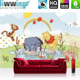 liwwing Vlies Fototapete 104x50.5cm PREMIUM PLUS Wand Foto Tapete Wand Bild Vliestapete - Disney Tapete Winnie Puuh IAh Tigger Winnie Pooh Ferkel Kindertapete Cartoon bunt - no. 3126