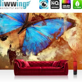 liwwing Vlies Fototapete 208x146cm PREMIUM PLUS Wand Foto Tapete Wand Bild Vliestapete - Kunst Tapete Löwe Illustration Lichter schwarz - no. 3559