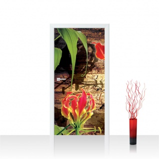 Türtapete - Pflanzen Holz | no. 337