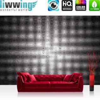 liwwing Vlies Fototapete 104x50.5cm PREMIUM PLUS Wand Foto Tapete Wand Bild Vliestapete - Kunst Tapete Abstrakt Design Muster Gitter anthrazit - no. 2989