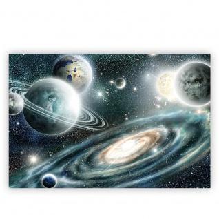 Leinwandbild Weltraum Planeten Kosmos Saturn Sonnensystem | no. 5668 - Vorschau 2