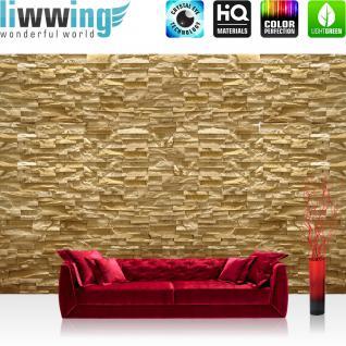 liwwing Vlies Fototapete 312x219cm PREMIUM PLUS Wand Foto Tapete Wand Bild Vliestapete - Steinwand Tapete Steine Steinoptik Steintapete beige - no. 2219