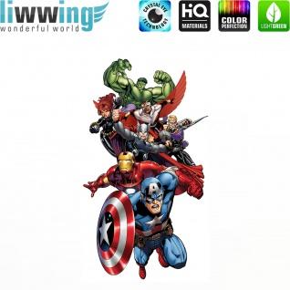 Wandsticker Marvel Avengers - No. 4643 Wandtattoo Sticker Kinderzimmer Hulk Iron Man Thor Captain America