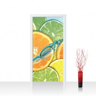 Türtapete - Limetten Orange Zitrone Waaser | no. 583