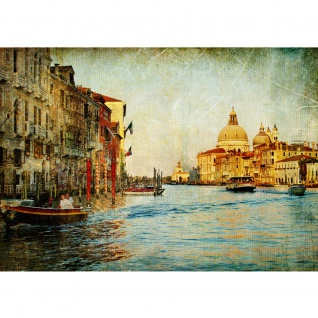 Fototapete Venedig Tapete Venedig Kanal Italien Stadt Wasser beige | no. 228