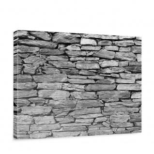 Leinwandbild Steinwand Steinoptik Steine Wand Mauer Stein   no. 172
