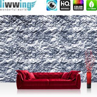 liwwing Vlies Fototapete 104x50.5cm PREMIUM PLUS Wand Foto Tapete Wand Bild Vliestapete - Texturen Tapete Stein Steinwand Felsen grau - no. 2241