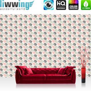 liwwing Fototapete 368x254cm PREMIUM Wand Foto Tapete Wand Bild Papiertapete - Texturen Tapete Kugeln Kreise Perlen Murmeln bunt - no. 3463