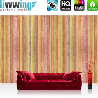 liwwing Vlies Fototapete 208x146cm PREMIUM PLUS Wand Foto Tapete Wand Bild Vliestapete - 3D Tapete Illustration Muster Form rot - no. 2852