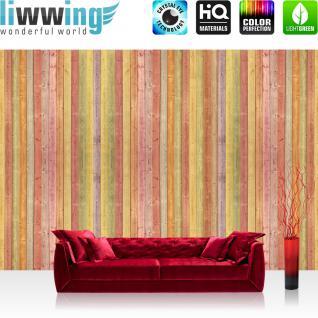 liwwing Vlies Fototapete 416x254cm PREMIUM PLUS Wand Foto Tapete Wand Bild Vliestapete - 3D Tapete Illustration Muster Form rot - no. 2852