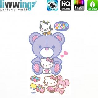 Wandsticker Sanrio Hello Kitty - No. 4629 Wandtattoo Sticker Kinderzimmer Katze Cartoon Kindersticker Mädchen