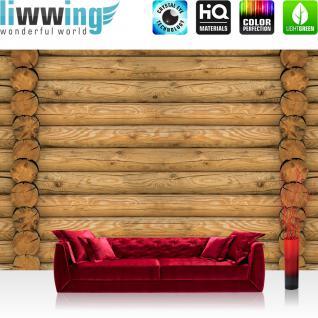 liwwing Vlies Fototapete 152.5x104cm PREMIUM PLUS Wand Foto Tapete Wand Bild Vliestapete - Kunst Tapete Design Blätter Schnörkel beige - no. 2506