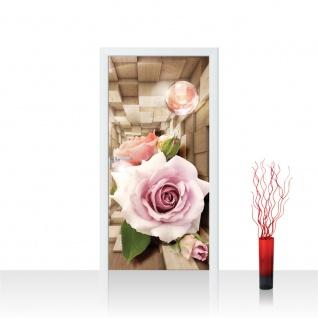 Türtapete - Abstrakt Blume Rose Rechteck | no. 972