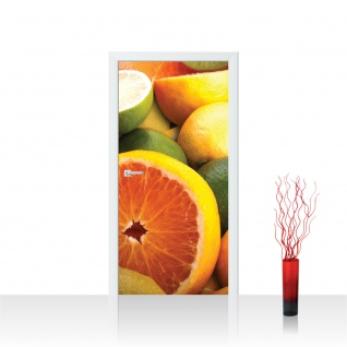 Türtapete - Orangen Limette Zitrone Kiwi Obst Früchte   no. 581