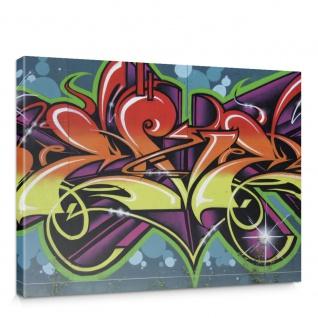 Leinwandbild Jugend Graffiti Schrift bunt | no. 344