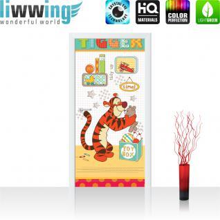 liwwing Vlies Türtapete 91x211 cm PREMIUM PLUS Tür Fototapete Türposter Türpanel Foto Tapete Bild - DISNEY Tigger Kindertapete Cartoon - no. 438