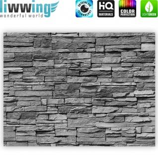 Leinwandbild Asian Stone Wall - anthrazit Steinoptik Steinwand Stonewall Steine   no. 126 - Vorschau 4