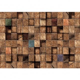 Fototapete 3D Tapete Abstrak Holz Muster Rectecke Design Muster 3D braun | no. 920