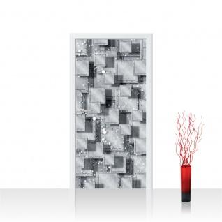 Türtapete - Abstrakt Rechtecke Platten Nieten 3D Optik | no. 883