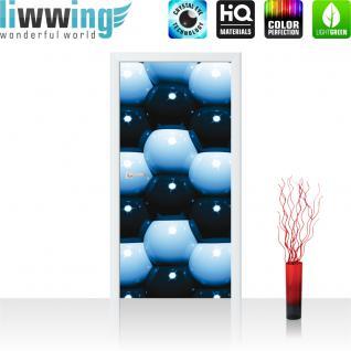 liwwing Türtapete selbstklebend 91x211 cm PREMIUM PLUS Tür Fototapete Türposter Türpanel Foto Tapete Bild - Abstrakt Kugeln Mauer - no. 1044