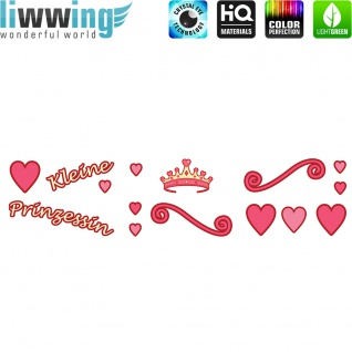 Wandsticker - No. 4845 Wandtattoo Sticker Prinzessin Mädchen Princcess Schrift Spruch Sprüche