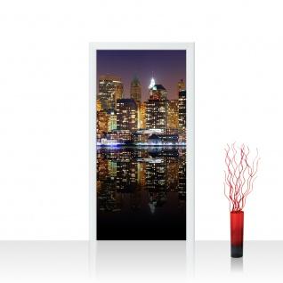 Türtapete - New York Lights Skyline New York City USA Amerika Big Apple | no. 20 - Vorschau 1