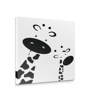 Leinwandbild Giraffen Gesicht Tier Kinder | no. 5019