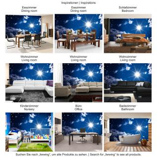 liwwing Vlies Fototapete 350x245 cm PREMIUM PLUS Wand Foto Tapete Wand Bild Vliestapete - ROMANTIC STARS - Sternenhimmel Stars Sterne Leuchtsterne Nachthimmel - no. 023 - Vorschau 5