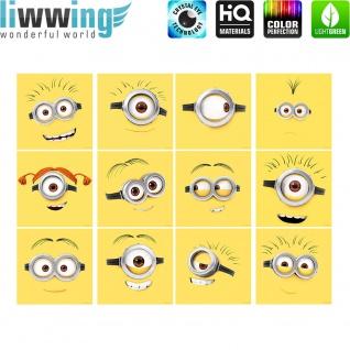 Wandsticker Minions - No. 4744 Wandtattoo Sticker Bob Kevin Gru Stuart Scarlett Herb Madge Trickfilm Cartoons