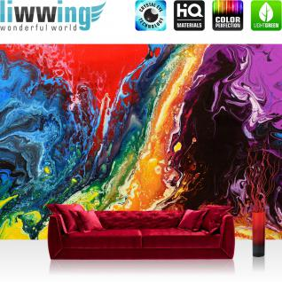 liwwing Vlies Fototapete 300x210 cm PREMIUM PLUS Wand Foto Tapete Wand Bild Vliestapete - RAINBOW WALL - Bunt Abstrakt Hintergrund Dekoration Wand - no. 106
