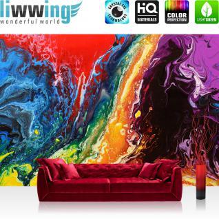 liwwing Vlies Fototapete 350x245 cm PREMIUM PLUS Wand Foto Tapete Wand Bild Vliestapete - RAINBOW WALL - Bunt Abstrakt Hintergrund Dekoration Wand - no. 106