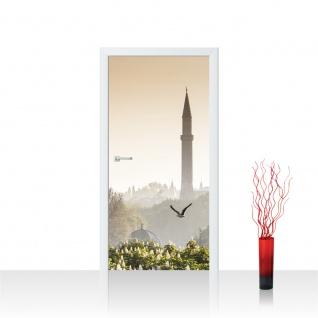 Türtapete - Istanbul Türkei Moschee Natur Nebel   no. 250