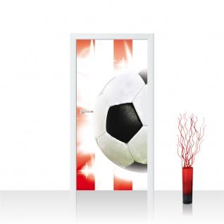 Türtapete - Fussball Ball Sterne | no. 1034