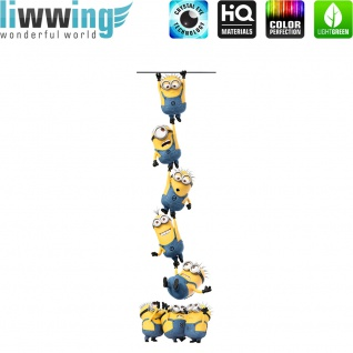 Wandsticker Minions - No. 4741 Wandtattoo Sticker Bob Kevin Gru Stuart Scarlett Herb Madge Trickfilm Cartoons
