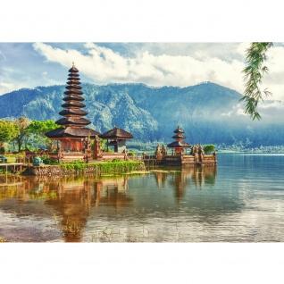 Fototapete Bali Tapete Bali Tempel Wasser Natur grau   no. 248