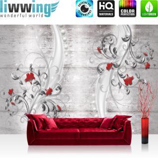 liwwing Fototapete 368x254 cm PREMIUM Wand Foto Tapete Wand Bild Papiertapete - Illustrationen Tapete Ornamente Tänzerin Kunst Orient Frau Mädchen Tanz orange - no. 953