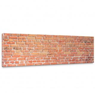 Leinwandbild Red Brick Stone Wall Steinoptik Steinwand Stonewall Steine rot | no. 136
