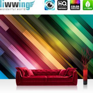 liwwing Fototapete 254x168 cm PREMIUM Wand Foto Tapete Wand Bild Papiertapete - Illustrationen Tapete Abstrakt Streifen Muster vektorgrafik bunt blau gelb - no. 368