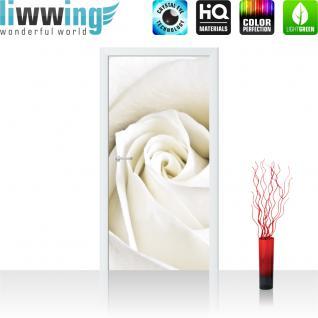 liwwing Türtapete selbstklebend 91x211 cm PREMIUM PLUS Tür Fototapete Türposter Türpanel Foto Tapete Bild - Rose Blumen Blüte - no. 1099